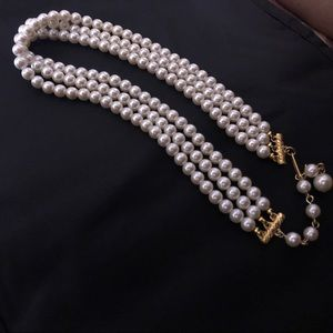 EUC Vintage Triple Strand Faux Pearl Necklace